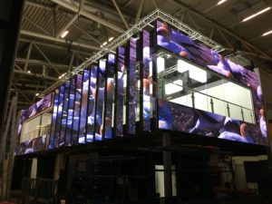 Creative booth decoration with Lightking LED Displays